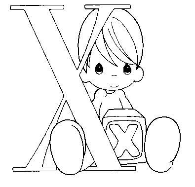 Dibujo Para Colorear Xiqui Letra X