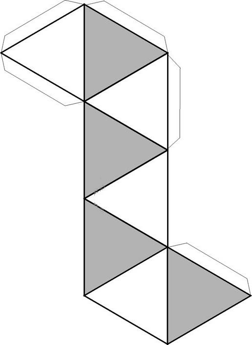 Dibujo Recortable Piramide Octagonal Figuras Geométricas