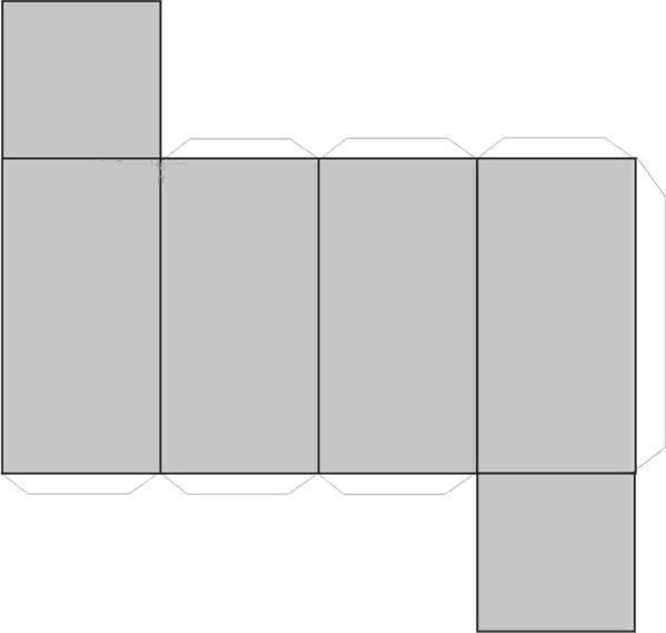 dibujo recortable prisma poligono rectangular figuras geométricas