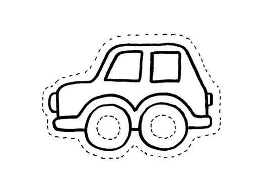 dibujo recortable coche